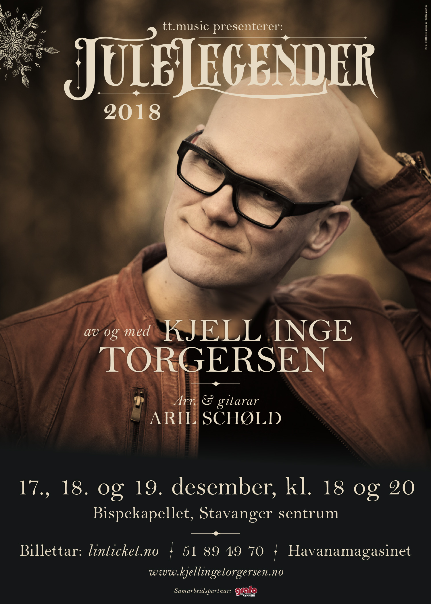 Plakat Julelegender 2018. Form: tilfellet.torgersen as. Foto: MB Multimedia.